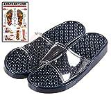 (マイカイラボ)MAIKAI LAB 履くだけ 足つぼ 健康サンダル 足 ツボ マップ セット インディゴブルー L