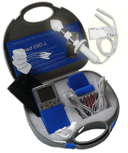 EMS / Tens 2-Kanal Reizstromgerät EMT-4 plus Analsonde PR-13 + Klemmen. Medizinprodukt für wirksame Schmerz- und Muskelbehandlung