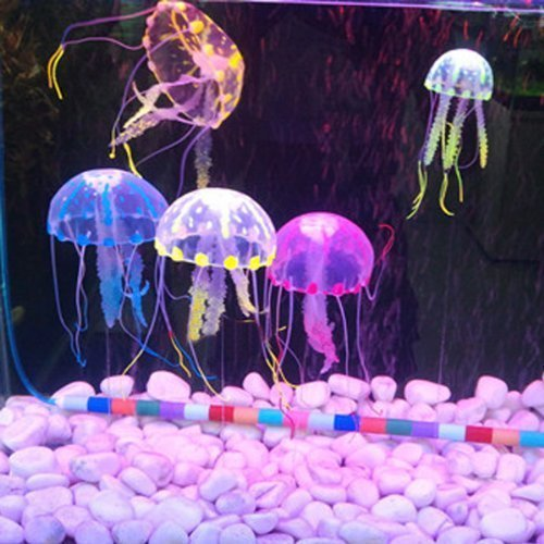 Glowing Effect Aquarium Fish Tank Artificial Jellyfish Ornament