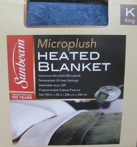 Sunbeam Heated Electric Blanket Quilted Fleece Royal Dreams King Seashell at Sears.com