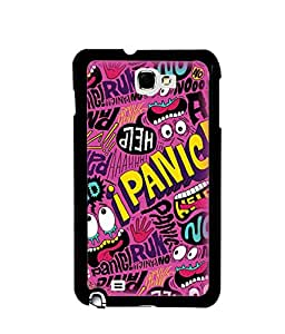 Fuson Premium Panic Metal Printed with Hard Plastic Back Case Cover for Samsung Galaxy Note 1 N7000 i9220