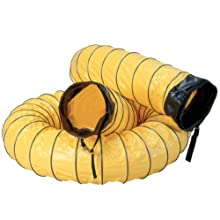 "Air Systems SVH-25 8"" Diameter 25' Standard Vinyl Hose Duct"