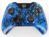 """Digital Blue Camouflage"" Xbox ONE Unmodded Controller w/Custom Painted High End Design & Finish - Customized By Gimika"