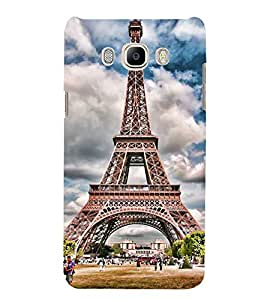 Eiffel Tower 3D Hard Polycarbonate Designer Back Case Cover for Samsung Galaxy J7 (6) 2016 Edition :: Samsung Galaxy J7 (2016) Duos :: Samsung Galaxy J7 2016 J710F J710FN J710M J710H