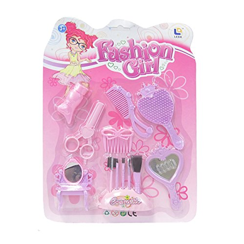 Little Big World Girly Girl Beauty and Fashion Accessory Kit (13-Piece), Purple/Pink