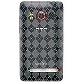 Amzer Luxe Argyle Skin Case for HTC EVO 4G - Smoke Gray