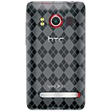 Amzer Luxe Argyle Skin Case for HTC EVO 4G - Smoke Gray ~ Amzer