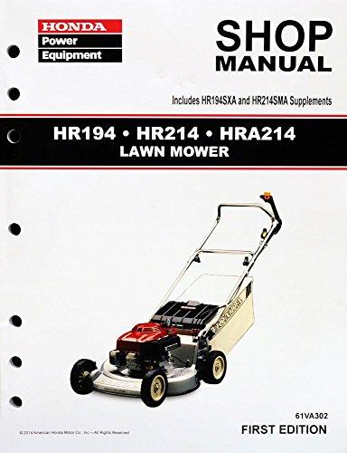 Honda Hr194 Hr214 Hra214 Lawn Mower Service Repair Shop Manual