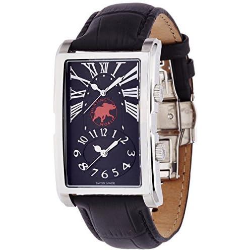 [ハンティングワールド]HUNTING WORLD 腕時計 マジック ツインタイム ブラック文字盤 3気圧防水 HW919SBK メンズ 【正規輸入品】