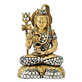 Redbag Blessing Lord Shiva Brass Sculpture ( 24.77 Cm, 16.51 Cm, 9.53 Cm )