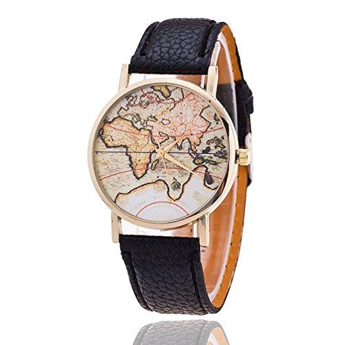 New Fashion World Map Geneva-orologi, orologi da polso da donna al quarzo feminino relogio