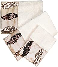 Popular Home 3 Piece The Shimmer Collection Towel Set Gold