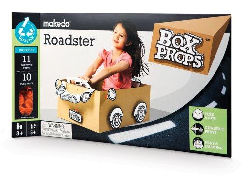 Box Props Roadster, costruisci la tua auto cabriolet con materiali di recupero e con Makedo - giocattolo creativo