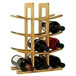 Oceanstar 12-Bottle Natural Bambbo Wine Rack WR1149