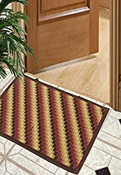 Bianca Splender Nylon Door Mat - 12x18, Saddle Brown
