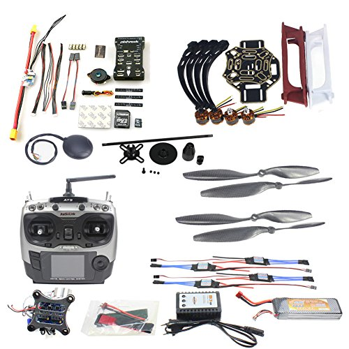 QWinOut DIY FPV Drone Quadcopter 4-axle Aircraft Kit :F450 450 Frame + PXI PX4 Flight Control + 920KV Motor +GPS + AT9 Transmitter + Gimbal Camera Mount (450 Motor Mount compare prices)