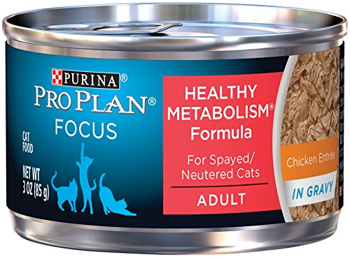 Purina Pro Plan Wet Cat Food, Focus, Healthy Metabolism Formula Chicken Entrée, 3-Ounce Can, Pack of 24