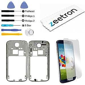 Zeetron Galaxy S4 L720 I545 Premium Midframe Middle Bezel Replacement Kit (CDMA/Verizon/Sprint Only)