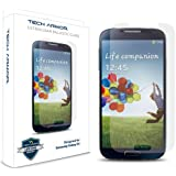Tech Armor Samsung Galaxy S4 (Not S4 ACTIVE) Premium Ballistic Glass Screen Protector - Protect Your Screen from Scratches - 99.99% Clarity & Accuracy