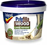 Polycell Polyfilla Wood Large Repair 250gm Natural Tub