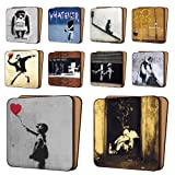 BANKSY screen-print Coasters Pack of 10 - NEW Art Coasters Furniture, Dinnerware Sets 11cm x 11cm