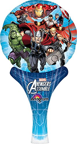 "Anagram International Avengers Assemble Inflate-A-Fun Balloon, 12"", Multicolor"
