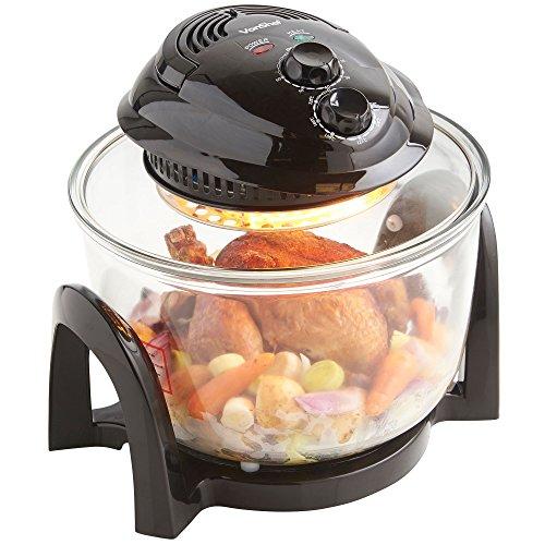 VonShef Premium 7L Black Halogen Air Fryer Oven 900W with Timer