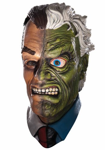 Batman The Dark Knight Rises Two Face Overhead Latex Mask at Gotham City Store
