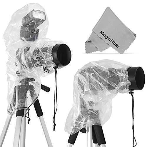 2-Pack-Rain-Covers-for-DSLR-Cameras-Canon-Nikon-Sony-Pentax-Olympus-Fuji-More-Including-T5i-T4i-T3i-T3-T2i-SL1-70D-60D-7D-6D-D7100-D5300-D5200-D5100-D3200-D3100-D810-Includes-Large-Cover-for-use-with-