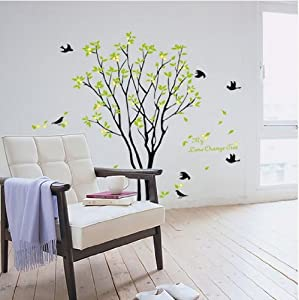 Hotportgift 90*60cm Birds Sing On the Tree Wall Stickers Decals Decor Art Mutual Removable from HPG