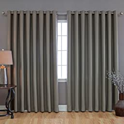 Best Home Fashion Wide Width Thermal Insulated Blackout Curtain - Antique Bronze Grommet Top - Olive - 100\