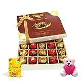 Luxury Treat To Your Friend With Friendship Card And Teddy - Chocholik Luxury Chocolates