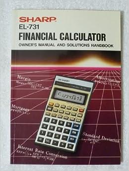 sharp el738fb financial calculator manual