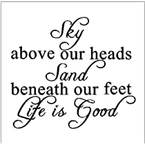 Sky above our heads...Beach Wall Quote Words Sayings Removable Lettering 13