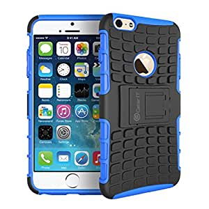 """GearIt iPhone 6 Case - [BLOK Armor] Hybrid Dual Layer Rugged Case Cover with Kickstand GearIt Made for Apple iPhone 6 4.7"""", Blue"""