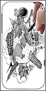Snoogg Hand Drawing The Dream Travel Around The World Designer Protective Back Case Cover For HTC Sensation Xl