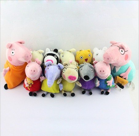 "Dh Llc Peppa Pig Family Plush Toy And Friend 12Pcs Set 19-30Cm/7.5-12"" front-11820"
