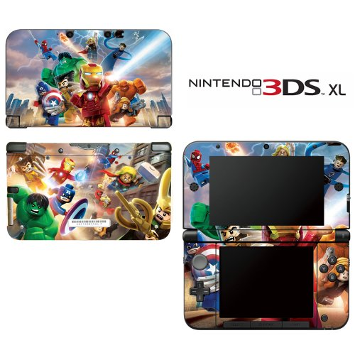 Super Heroes Decorative Video Game Decal Cover Skin Protector For Nintendo 3Ds Xl front-244651