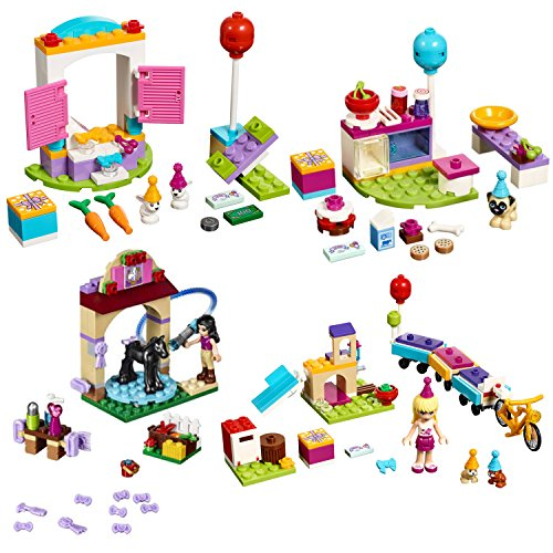 Get LEGO Friends Party 4-SET - Party Gift Shop, Party Cakes, Foal's ...