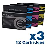 Brother LC970 / LC1000 Cartridges - 12 Compatible Ink Cartridges - 3 Full Sets of Cartridges (3 x Black LC970Bk / 3 x Cyan LC970C / 3 x Magenta LC970M / 3 x Yellow LC970M) - Brother LC-970 / LC-1000 Cartridges for Brother DCP-130C / DCP-330C / DCP-350C /