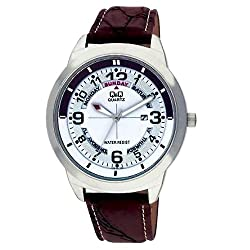 Q&Q Standard Analog White Dial Mens Watch - A148J304Y