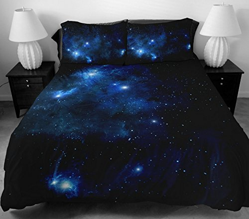 Anlye Boys Bedding Set 2 Sides Printing The Navy Blue Star Duvet Covers With Matching Design 2 Pillow Cases For Boys Home Decorating Ideas Full front-509282