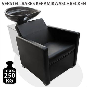 Poltrona da barbiere PROFESSIONAL unità di lavaggio nero station lavandino inverso poltrona lavaggio lavaggio EPR ??- MST- 312