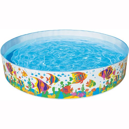 Intex ocean reef snapset inflatable pool 8 x 18 for for Piscine enfant