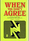 img - for When You Don't Agree by James G. T. Fairfield (1977-09-01) book / textbook / text book