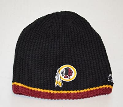 YOUTH Washington Redskins Reebok Reversible Skull Cap - NFL Cuffless Beanie Kids Winter Knit Toque Cap