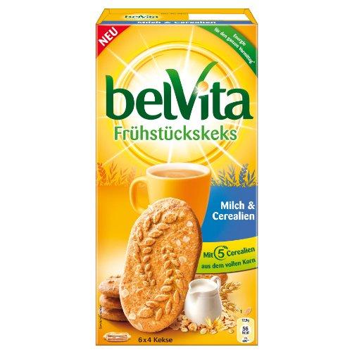 Gâteaux Secs Petit-Déjeuner BelVita, Lait & Céréales, Petits Gâteaux Secs, 24 Biscuits, 300g