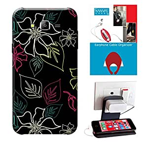 Samsung Galaxy J7 Accessories Combo, Premium Quality Designer Printed 3D Lightweight Slim Matte Finish Hard Case Back Cover for Samsung Galaxy J7 + Free Earphone Cable Organizer + Mobile Charging Holder/Stand