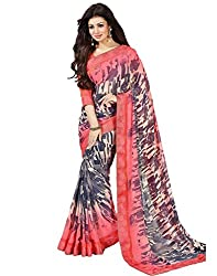 Vastram Online Shop Women's Georgette Saree (56_Multicolor)