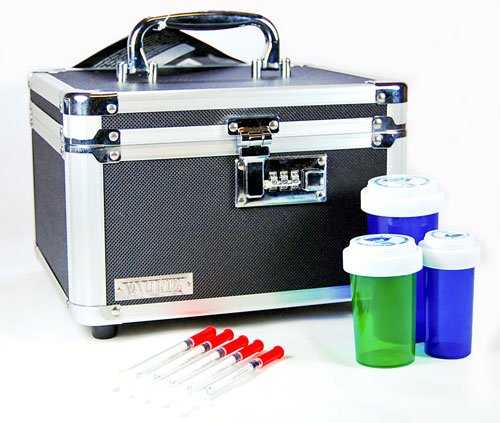 "Heavy Duty medication Lockbox with Combination (internal dimensions: 5.75"" H x 8.75"" W x 7.50"" D)"